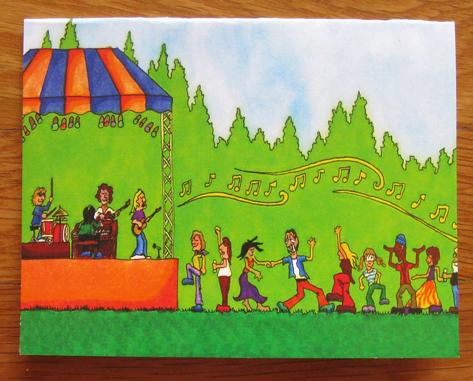 greeting card ~ festival dancers