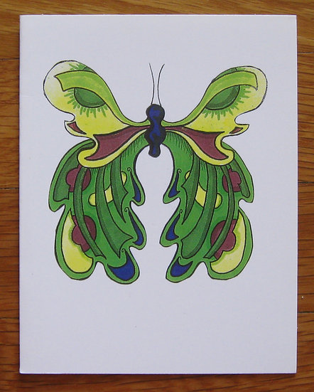 greeting card ~ green butterfly