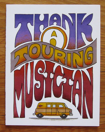 greeting card ~ thank a touring musician