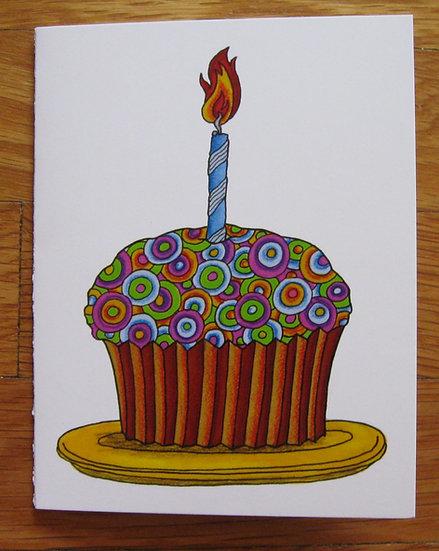 greeting card ~ cupcake