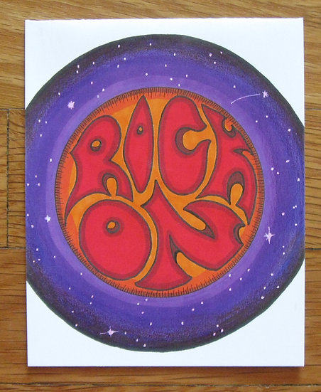 greeting card ~ rock on