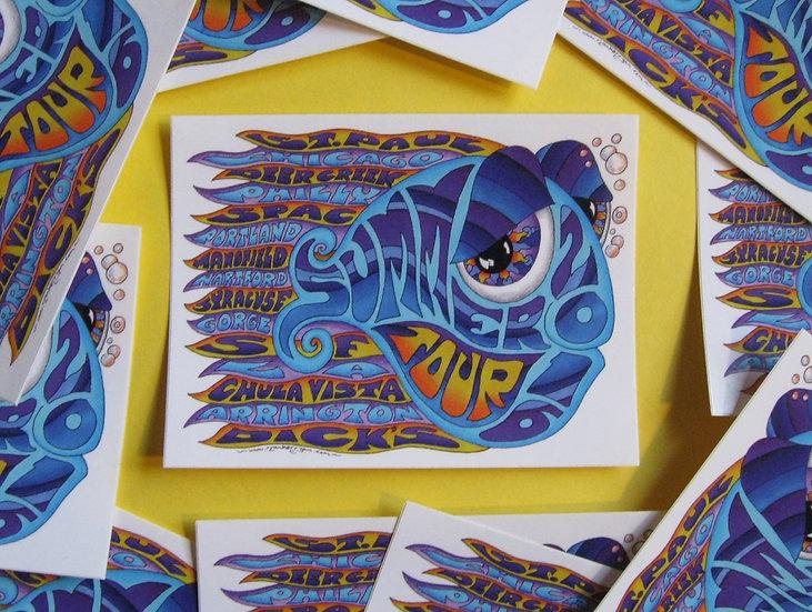 2016 summer tour happy fish sticker