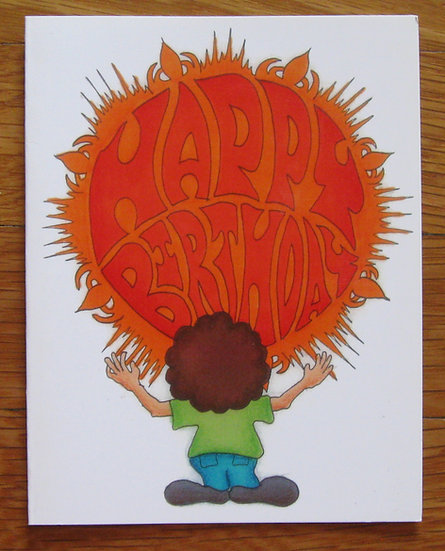 greeting card ~ happy birthday bubble