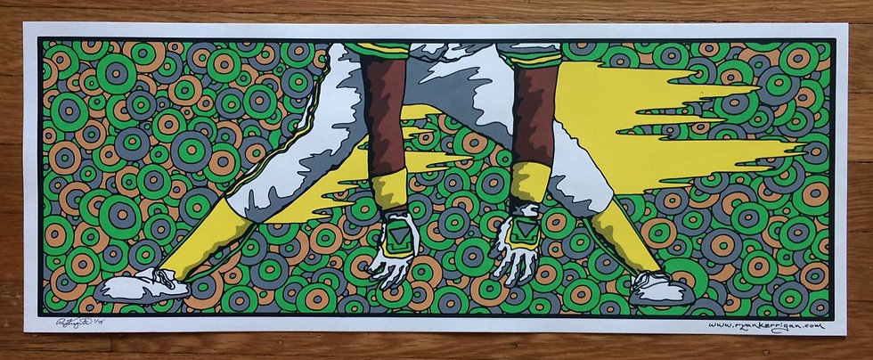 RICKEY silkscreened print