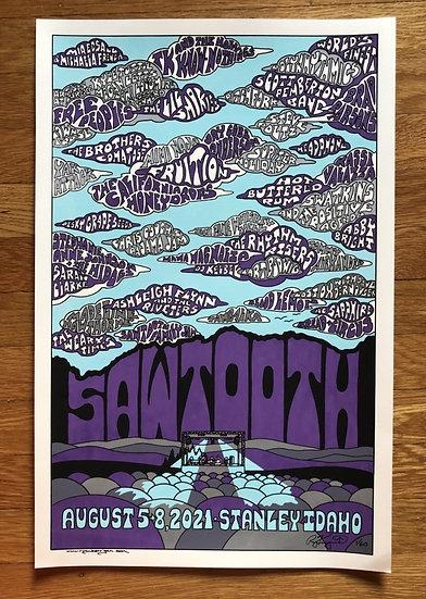 SAWTOOTH MUSIC FESTIVAL 2021 silkscreened poster