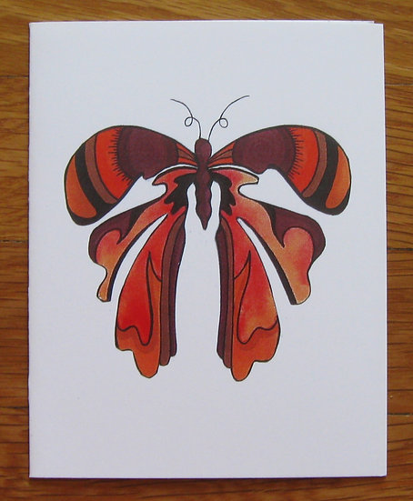 greeting card ~ brown butterfly