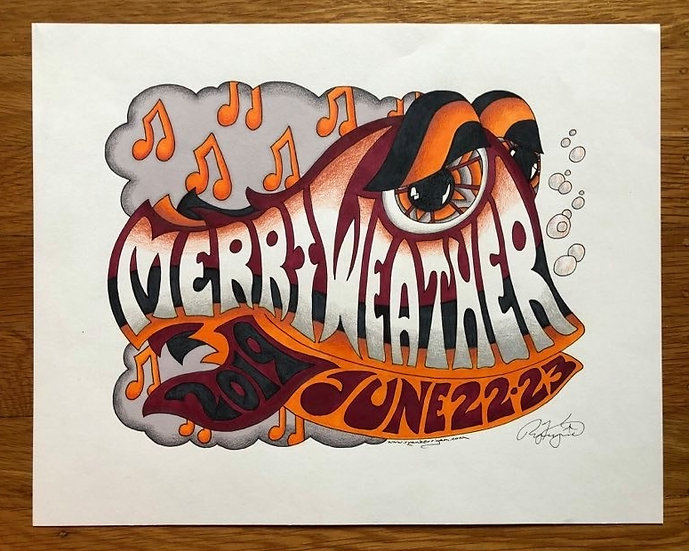 ORIGINAL ART: 2019 merriweather happy fish