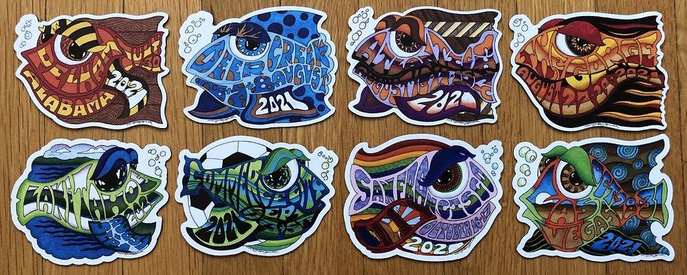 2021 happy fish magnet set