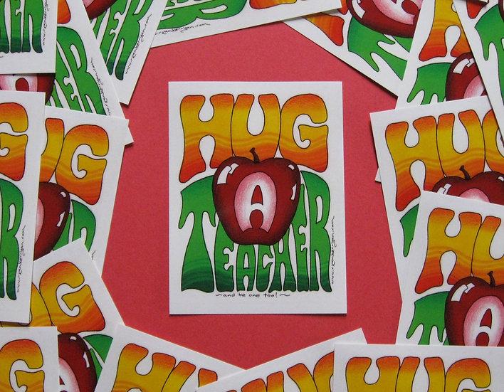 hug a teacher stickers