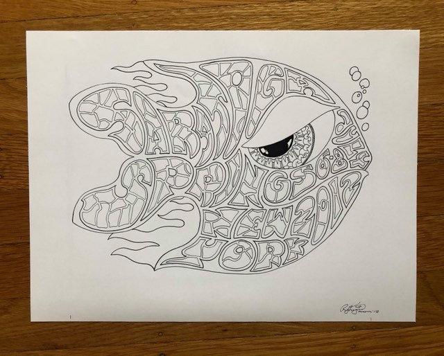 ORIGINAL ART: 2012 SPAC happy fish