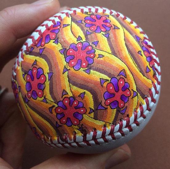 2018 hand painted baseball #5