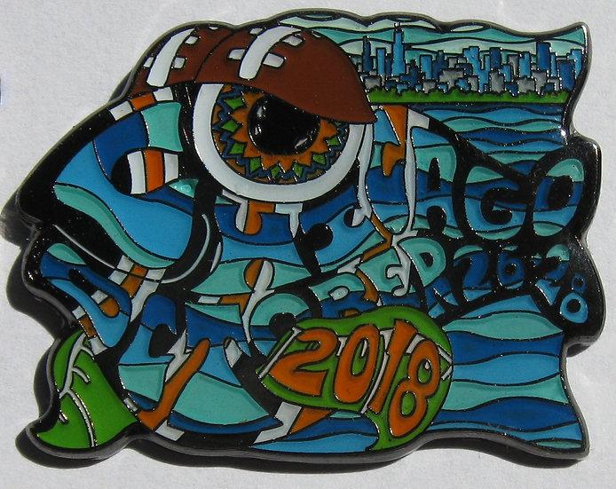 2018 chicago happy fish pin