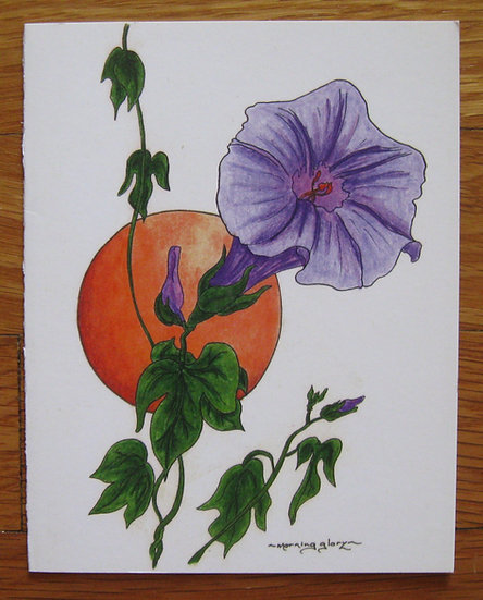 greeting card ~ morning glory