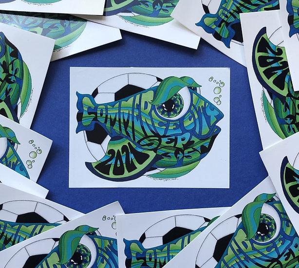 2021 dicks happy fish sticker