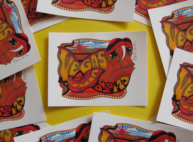 2018 las vegas happy fish sticker