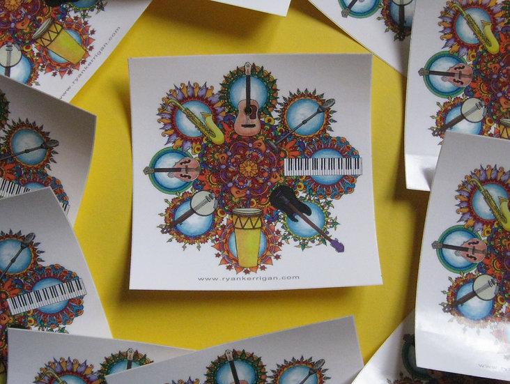 music mandala sticker