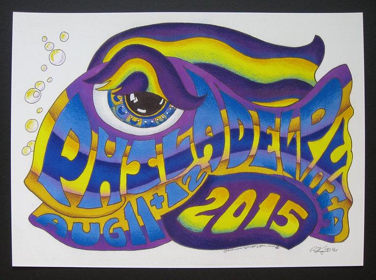 2015 philadelphia happy fish poster