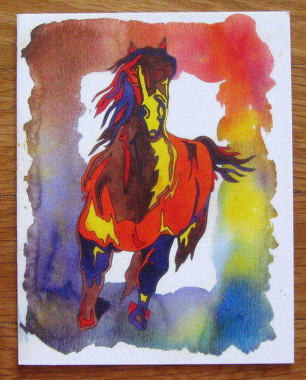 greeting card ~ horse dream
