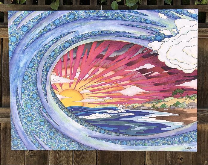 SUNDOWN BEACH canvas print