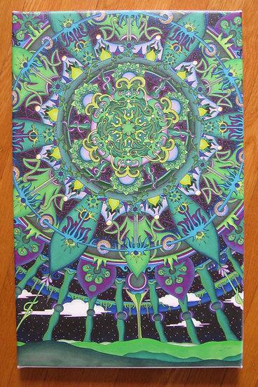 A GREEN WORLD canvas print