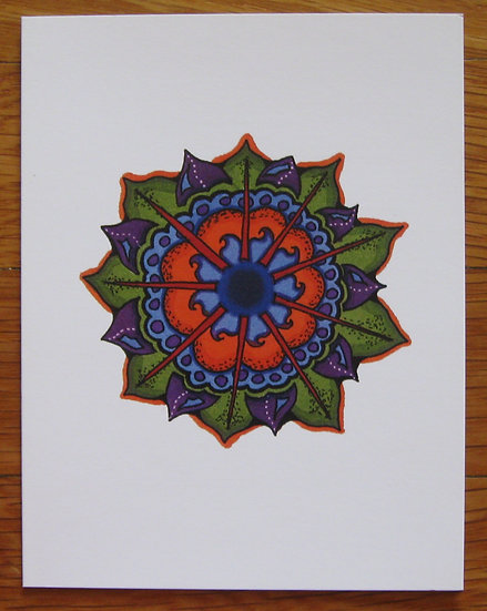 greeting card ~ mandala flower