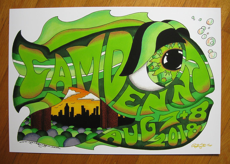 2018 camden happy fish poster