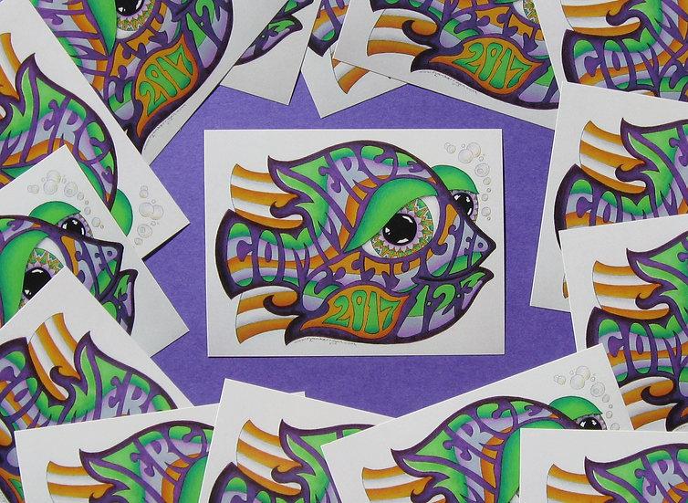 2017 dicks happy fish sticker