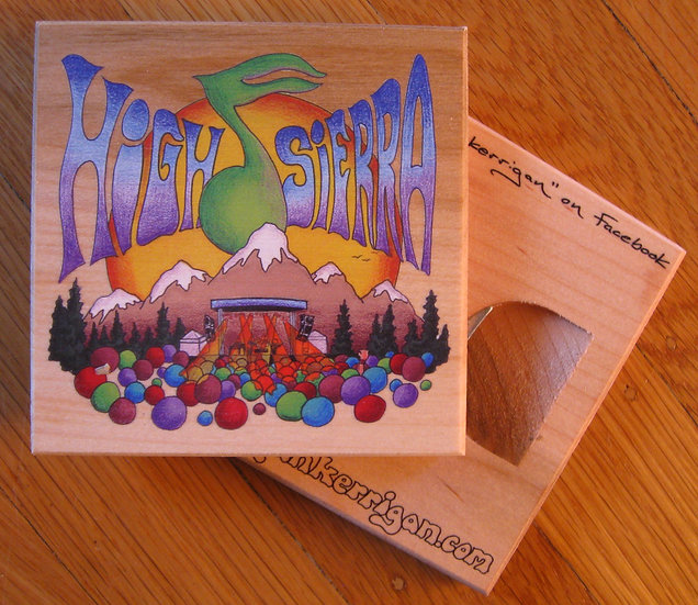 high sierra music festival coaster bottle opener