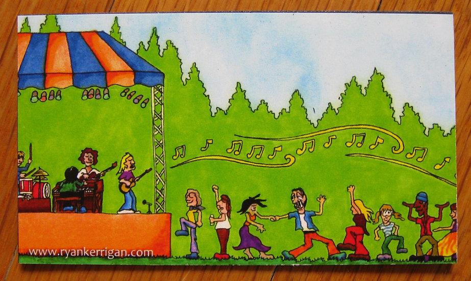 festival dancers magnet