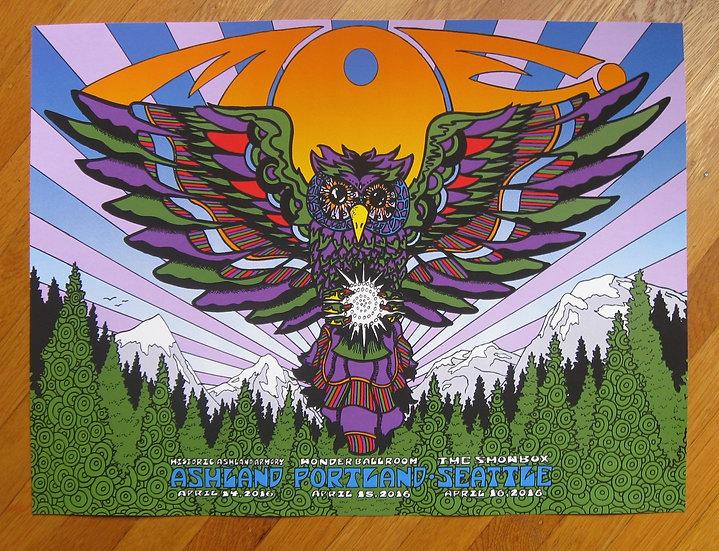moe.  northwest 2016 silkscreened poster