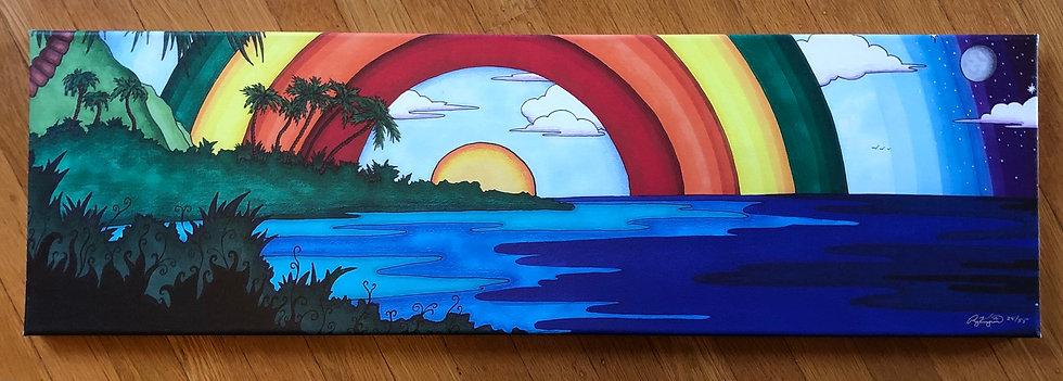 ISLAND SUN canvas print