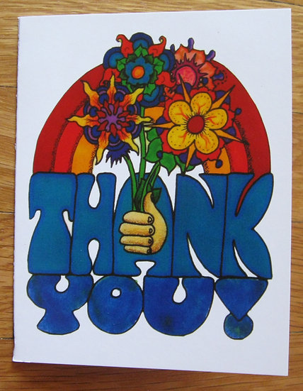 greeting card ~ thank you flowers