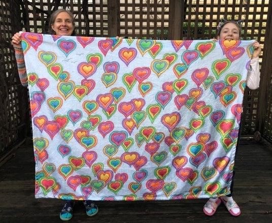 HEARTSKY super plush fleece blanket