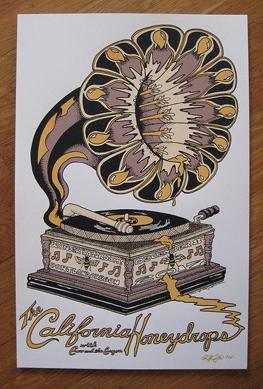 california honeydrops ~ portland december 8, 2017 silkscreened poster