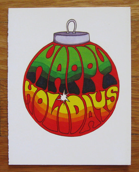 greeting card ~ happy holidays ornament