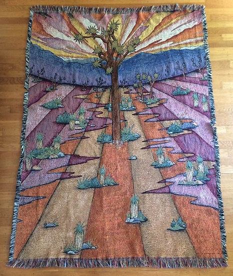 joshua tree woven blanket
