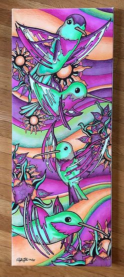 HUMMER FAMILY canvas print