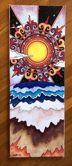 SUNTIDE canvas print