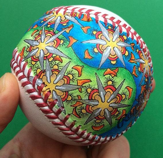 2018 hand painted baseball #2