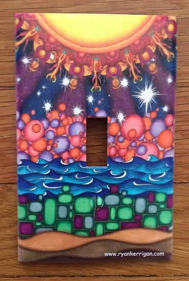seven layer journey light switch cover