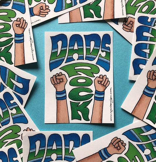 DADS ROCK sticker