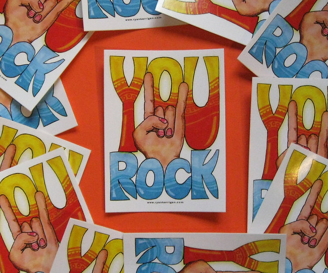 you rock sticker