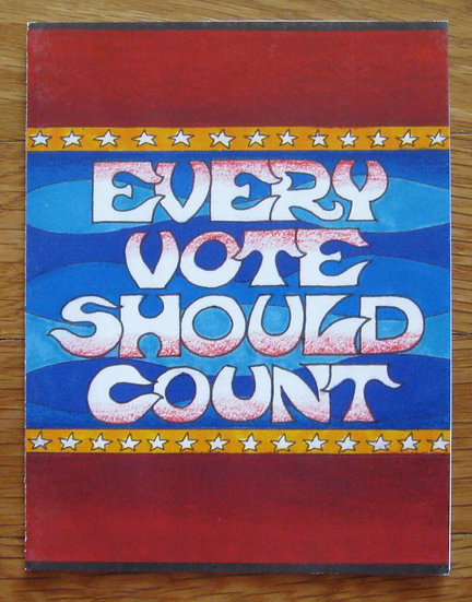 greeting card ~ every vote should count
