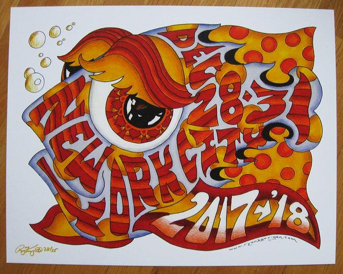 2017-2018 new york city happy fish poster