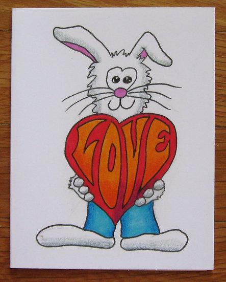 greeting card ~ bunny love
