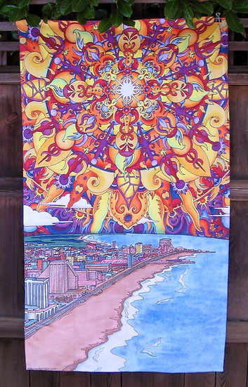 atlantic city beach towel