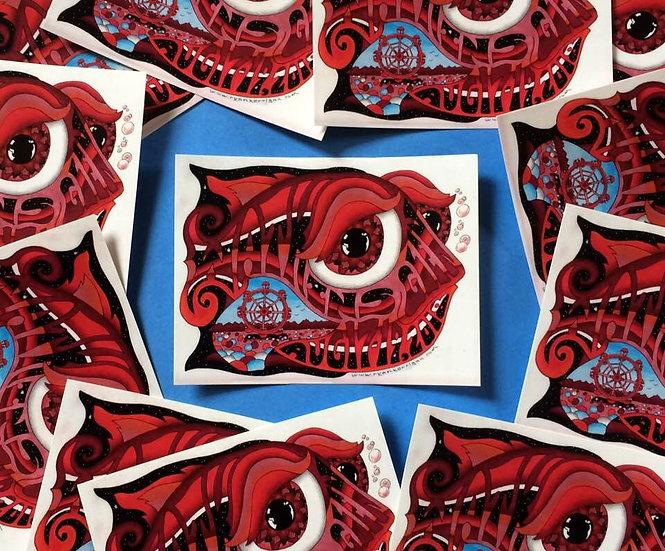 2018 watkins glen happy fish sticker