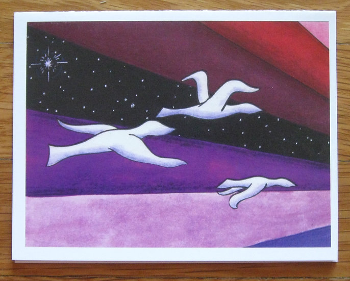 greeting card ~ flight