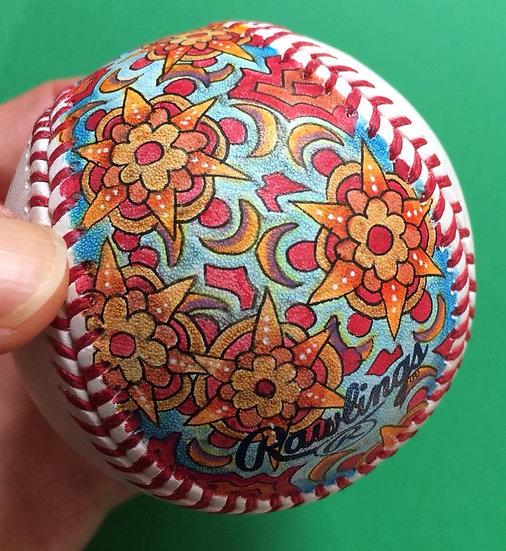 2018 hand painted baseball #9