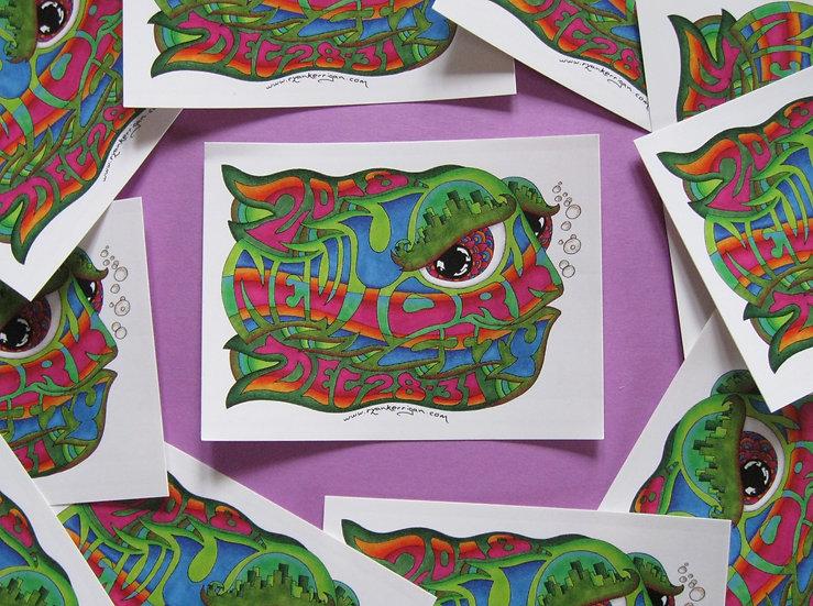 2018-2019 new york city happy fish sticker